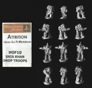 Alternative Armies 15mm Sci Fi Attrition HOF10 Shia Khan Drop Troops (x 12)